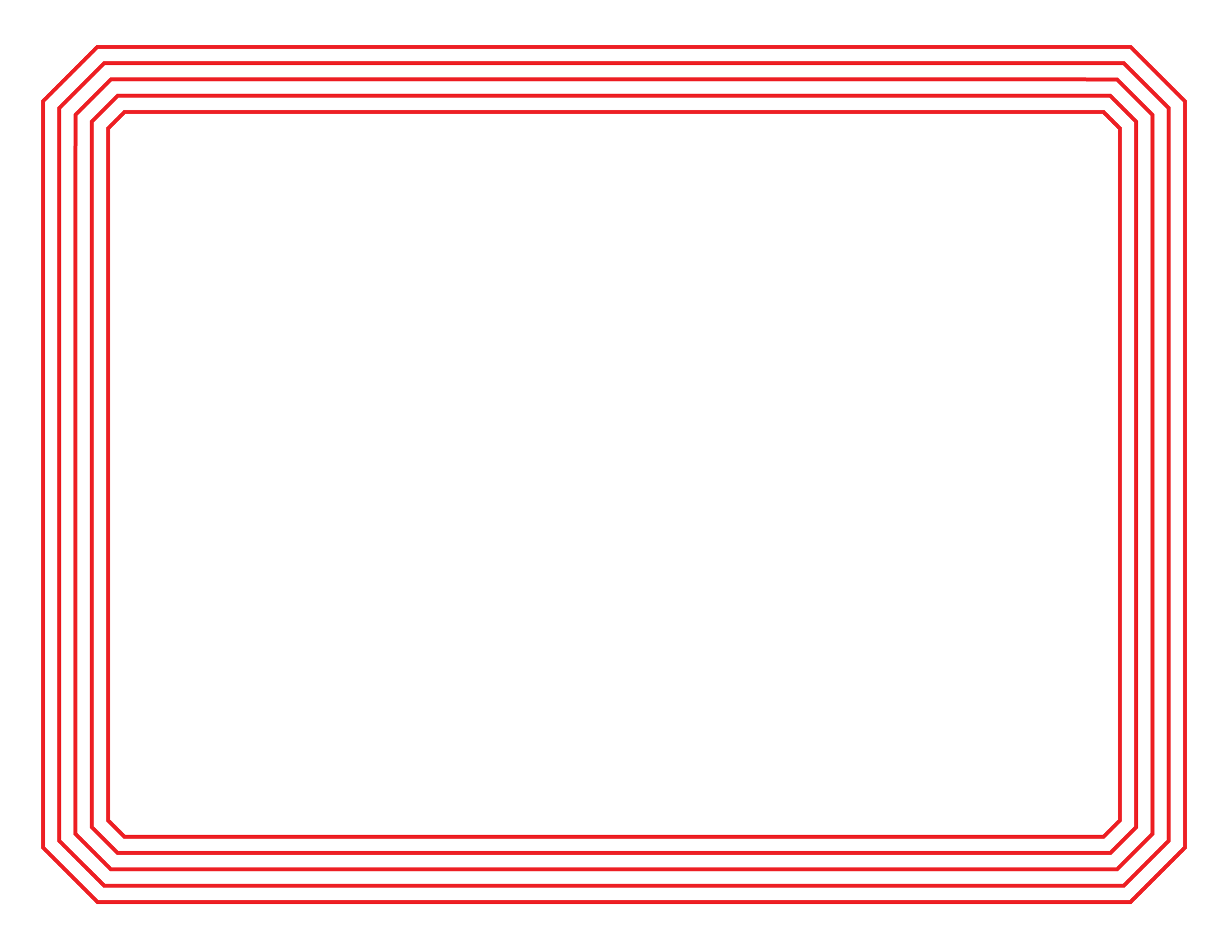 yellow certificate border template