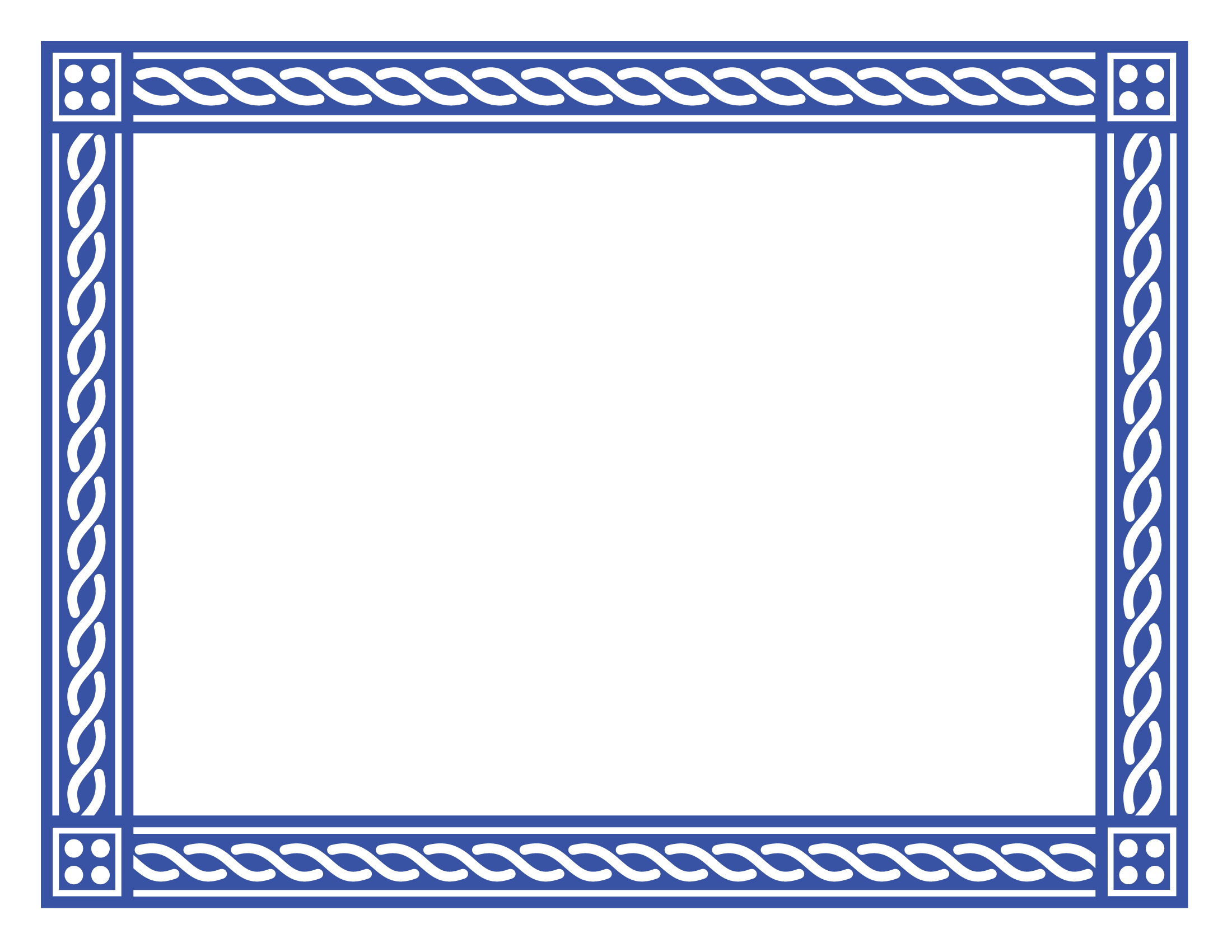 Certificate border 2 for Blue certificate border template