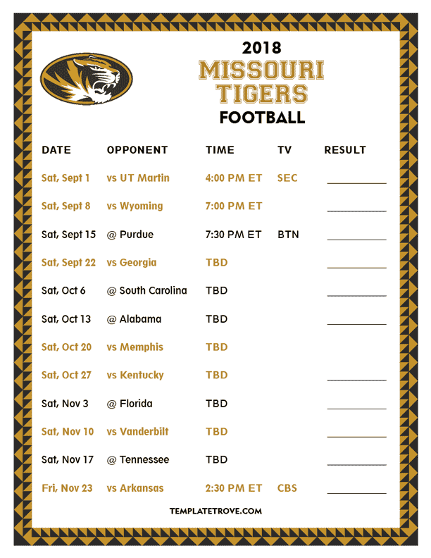 Sizzling image with regard to tigers printable schedule