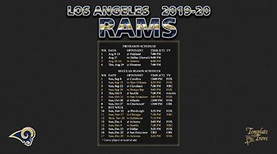 2019-2020 Los Angeles Rams Wallpaper Schedule