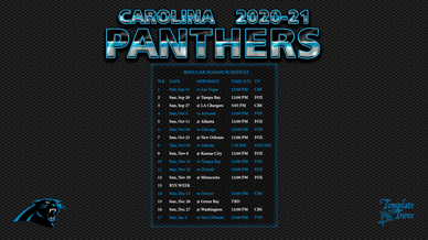 Carolina Panthers 2020-21 Wallpaper Schedule