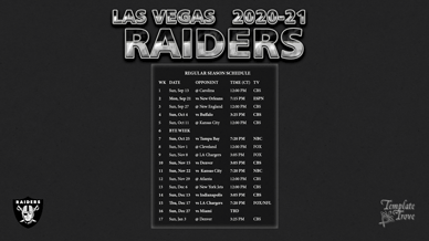 Las Vegas Raiders 2020-21 Wallpaper Schedule
