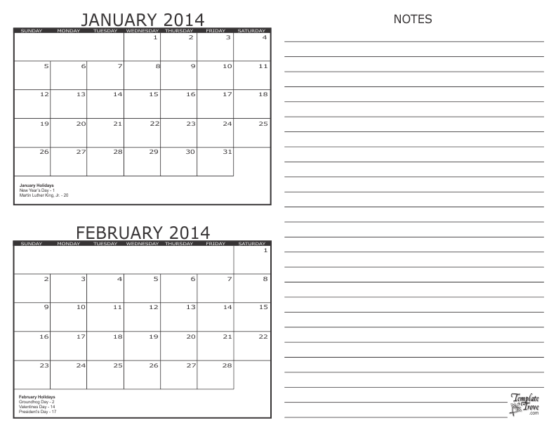 2 month calendar 2014 for 2 month calendar template 2014