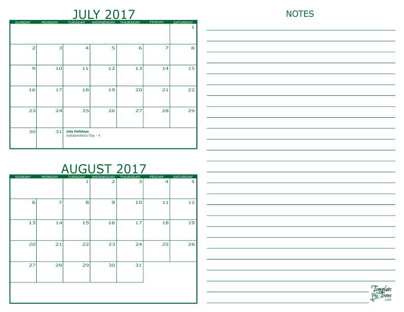 Calendar June July August 2017 : Month calendar