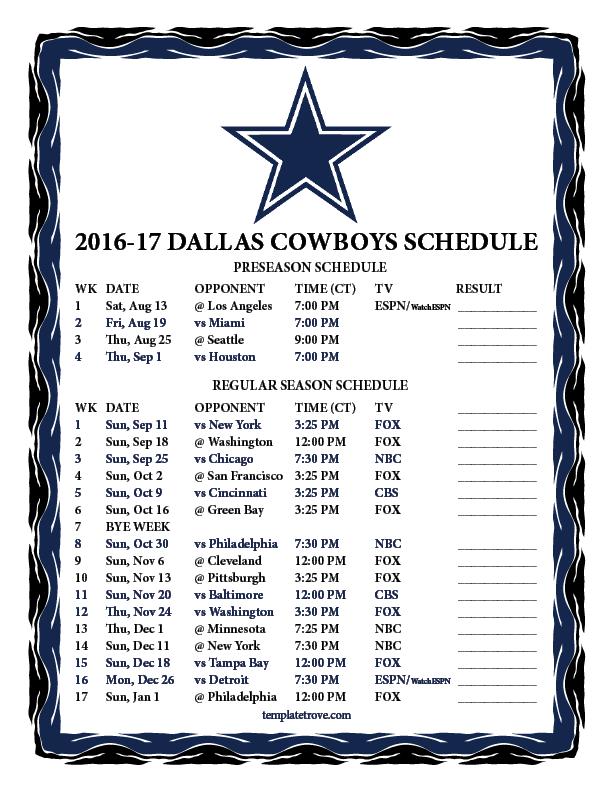 612 x 792 png 66kB, Printable 2016-2017 Dallas Cowboys Schedule source ...