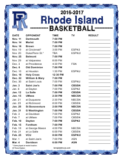 Rhode Island Schools Calendar