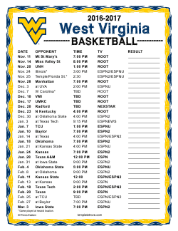2016-2017 College Basketball Schedules 2