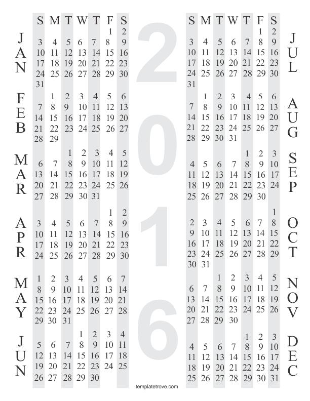 4 year calendar