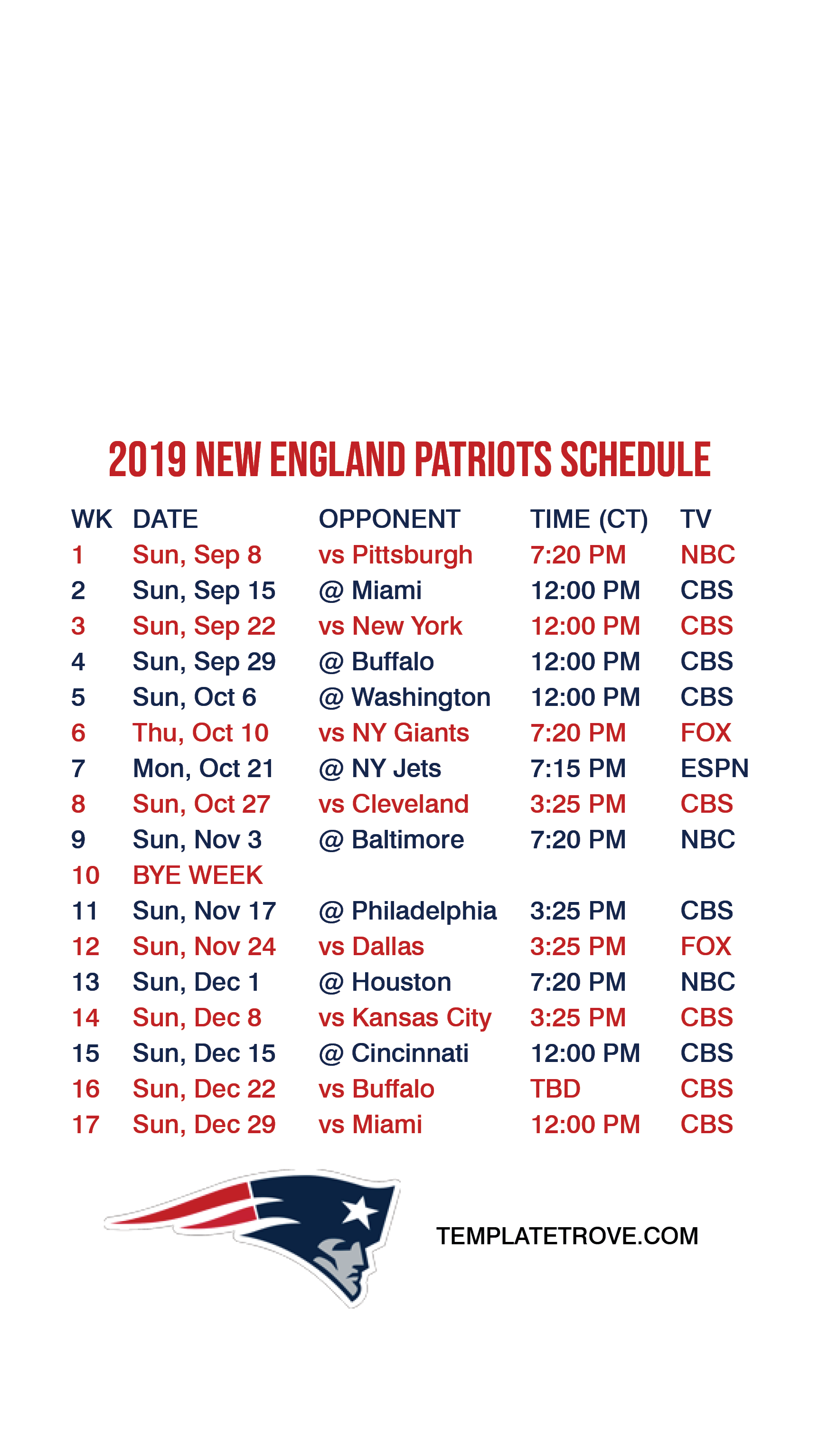 2019-2020 New England Patriots Lock Screen Schedule for ... | 1725 x 3067 png 264kB