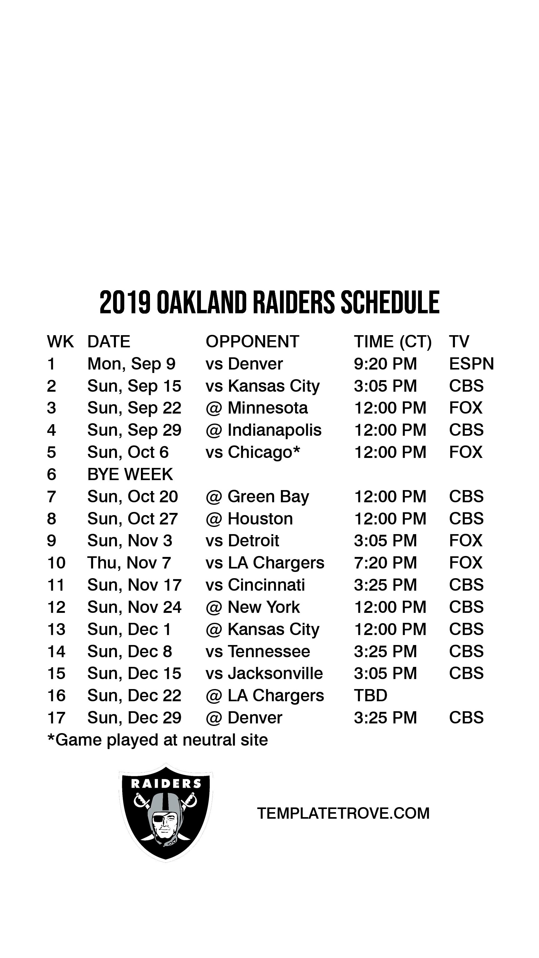 Priceless image inside raiders printable schedule