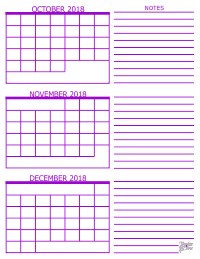 Small Calendar Of November And December 2019 3 Month Calendar   2018
