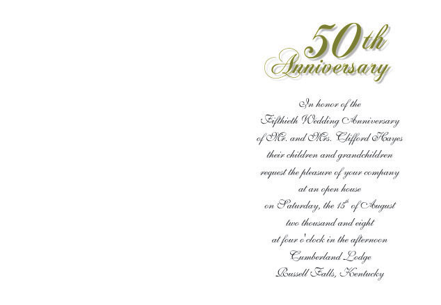 50th wedding anniversary invitations. Black Bedroom Furniture Sets. Home Design Ideas