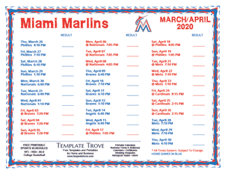 April-2020-Miami-Marlins-Printable-Schedule-PNG-324 Team Newsletter Template October on printable downloadable, free downloadable preschool,