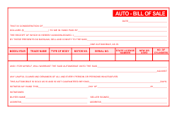 Auto Bill of Sale Template - Red
