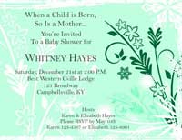 Baby Shower Invitation 1 - Green