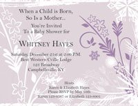 Baby Shower Invite 1 - Lavender