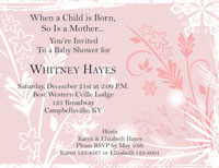 Baby Shower Invite - Pink