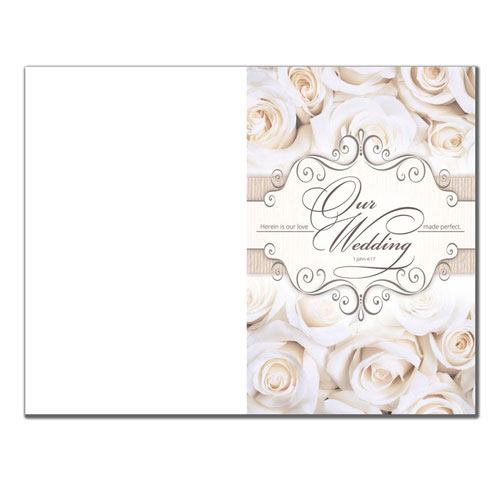wedding program paper 6361