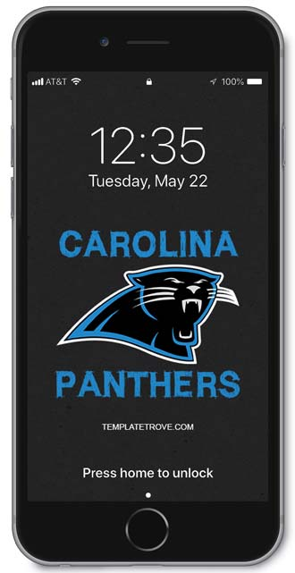 Carolina Panthers Lock Screen 2