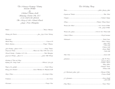 Catholic Wedding Program Templates