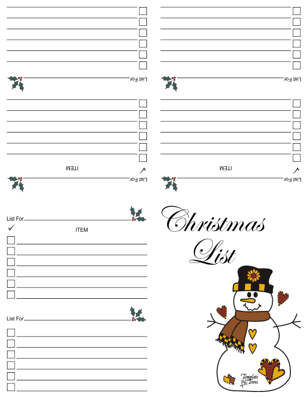 This is a graphic of Gorgeous Printable Christmas Shopping List