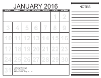 Free Monthly Calendars 1