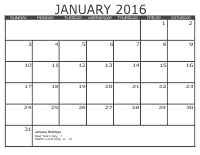 Free Monthly Calendar 3