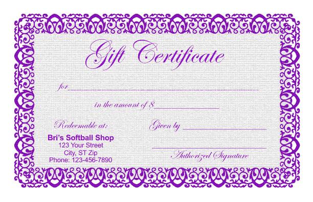 Fitness Gift Certificate Template Mandegarfo