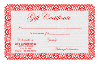 Gift Certificate Template 1 - Red