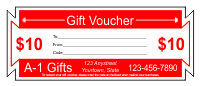 Gift Voucher Template 1 - Red