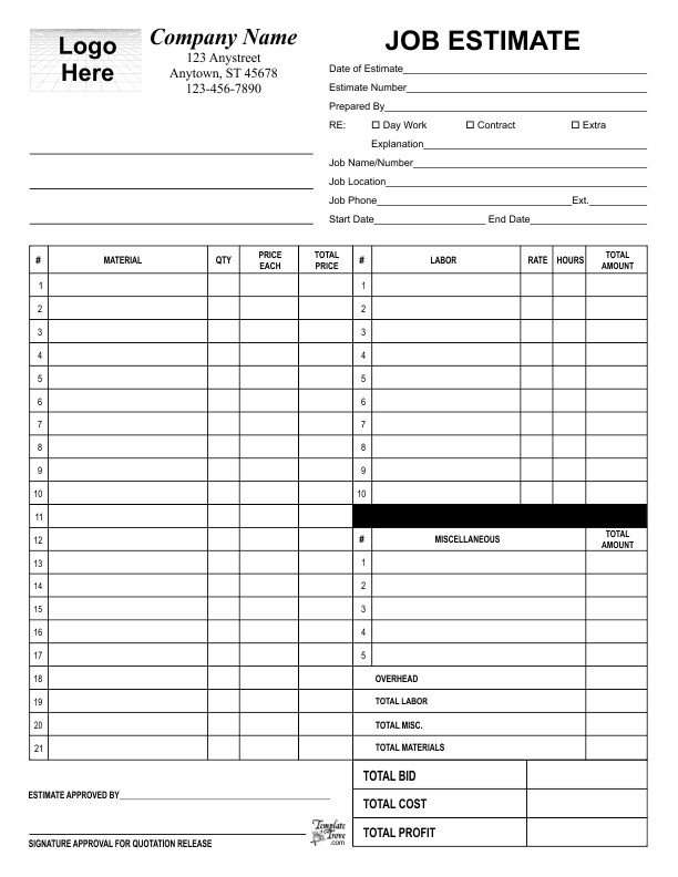 small business forms templates free