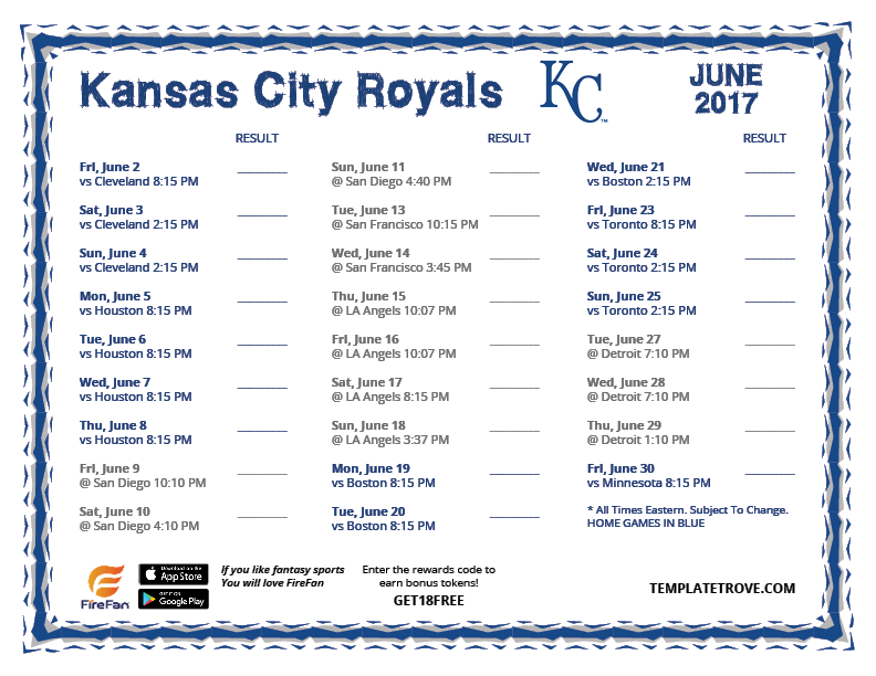 Bewitching image intended for kc royals schedule printable