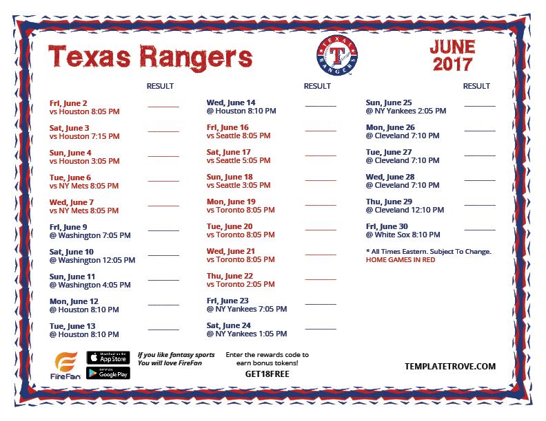 printable 2017 texas rangers schedule