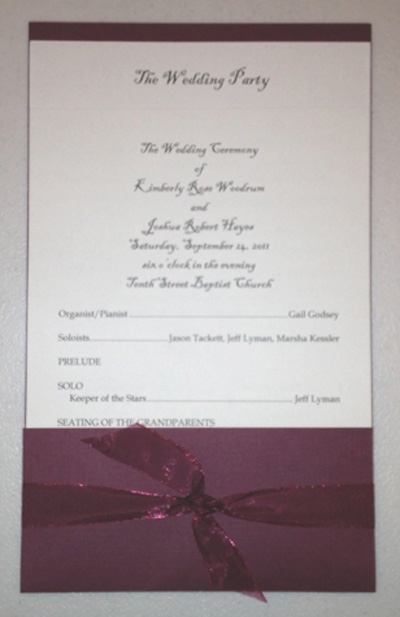 layered pocket wedding program template