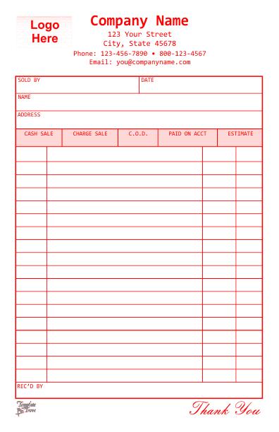 receipt template 2