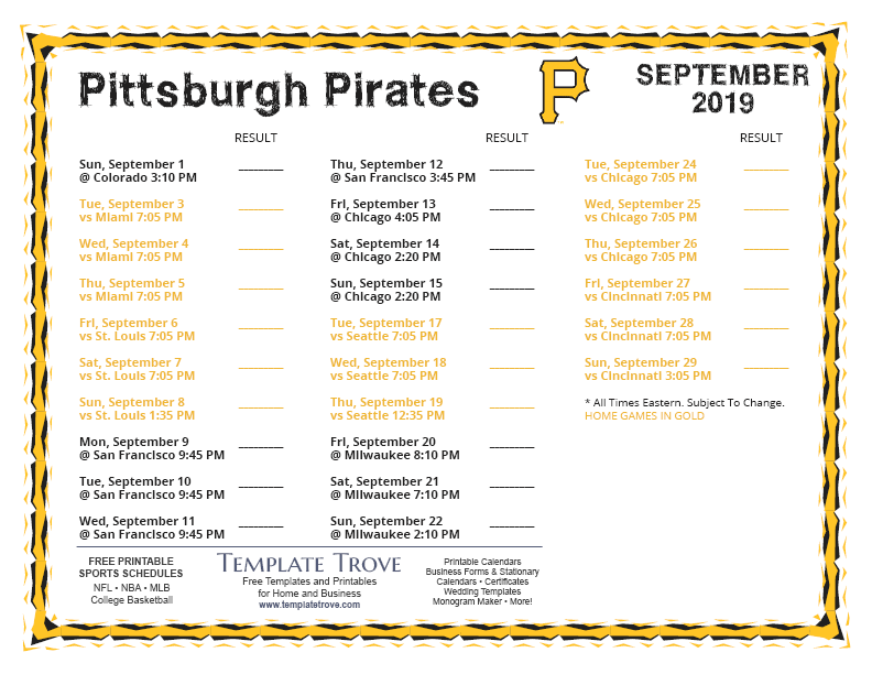 Terrible image in pirates printable schedule