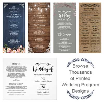 Find Your Perfect Printed Wedding Programs