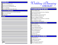 Wedding Checklist Blue
