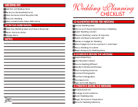 Wedding Planning Checklist - Red