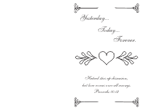 Wedding Program Cover 2 - Black
