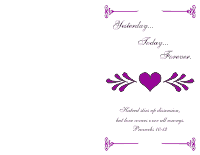 Wedding Program Cover 2 - Deep Violet