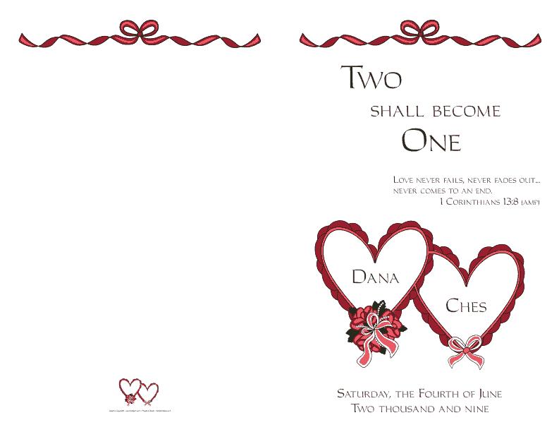 wedding programs cover design