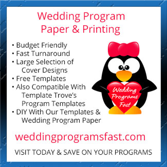 Wedding Program Printing and Paper